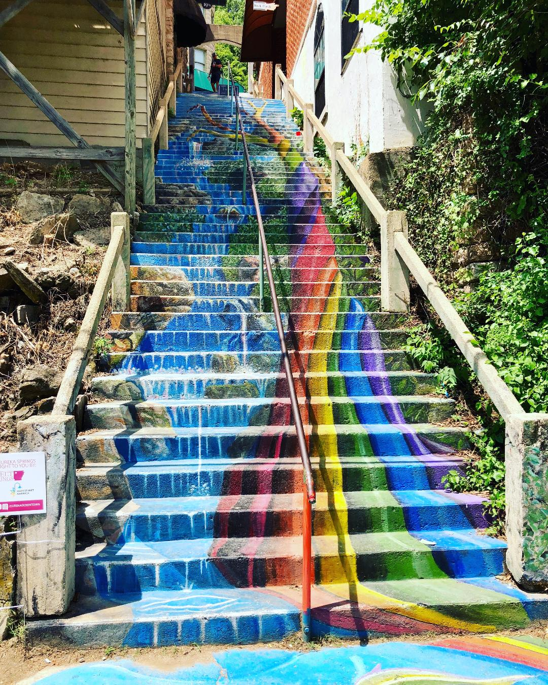 The Cash and Boardman Mural or the Rainbow Staircase as some people call it is a neat site to see. It is tucked away on a backstreet in the boutique shop section of downtown.