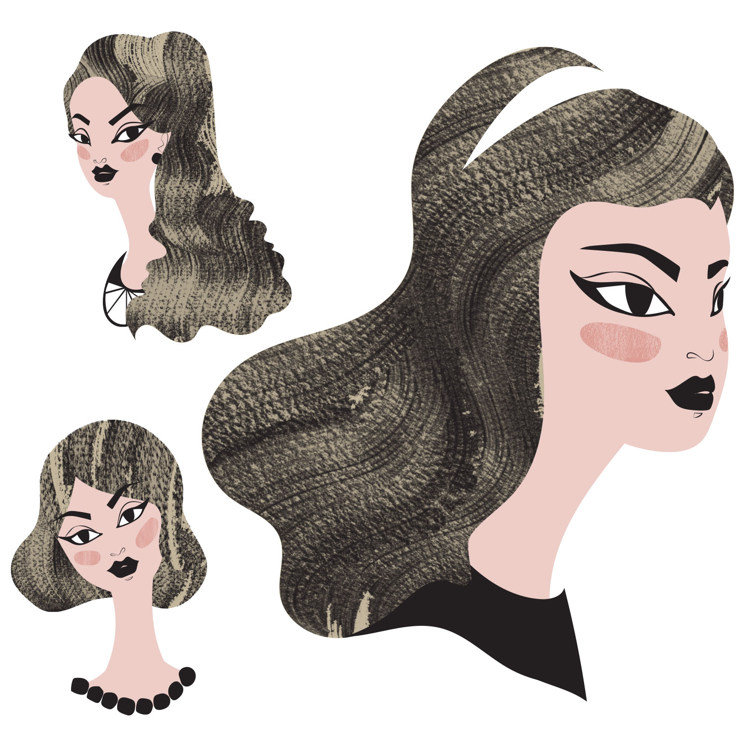 Faces - Fashion & Beauty Illustration