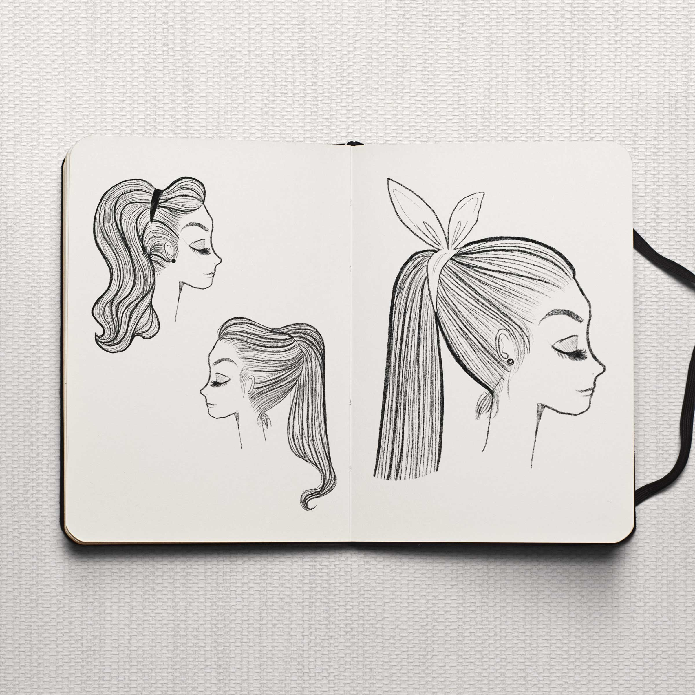Studio Maarit - Sketchbook -   Fashion Illustration - Black & White