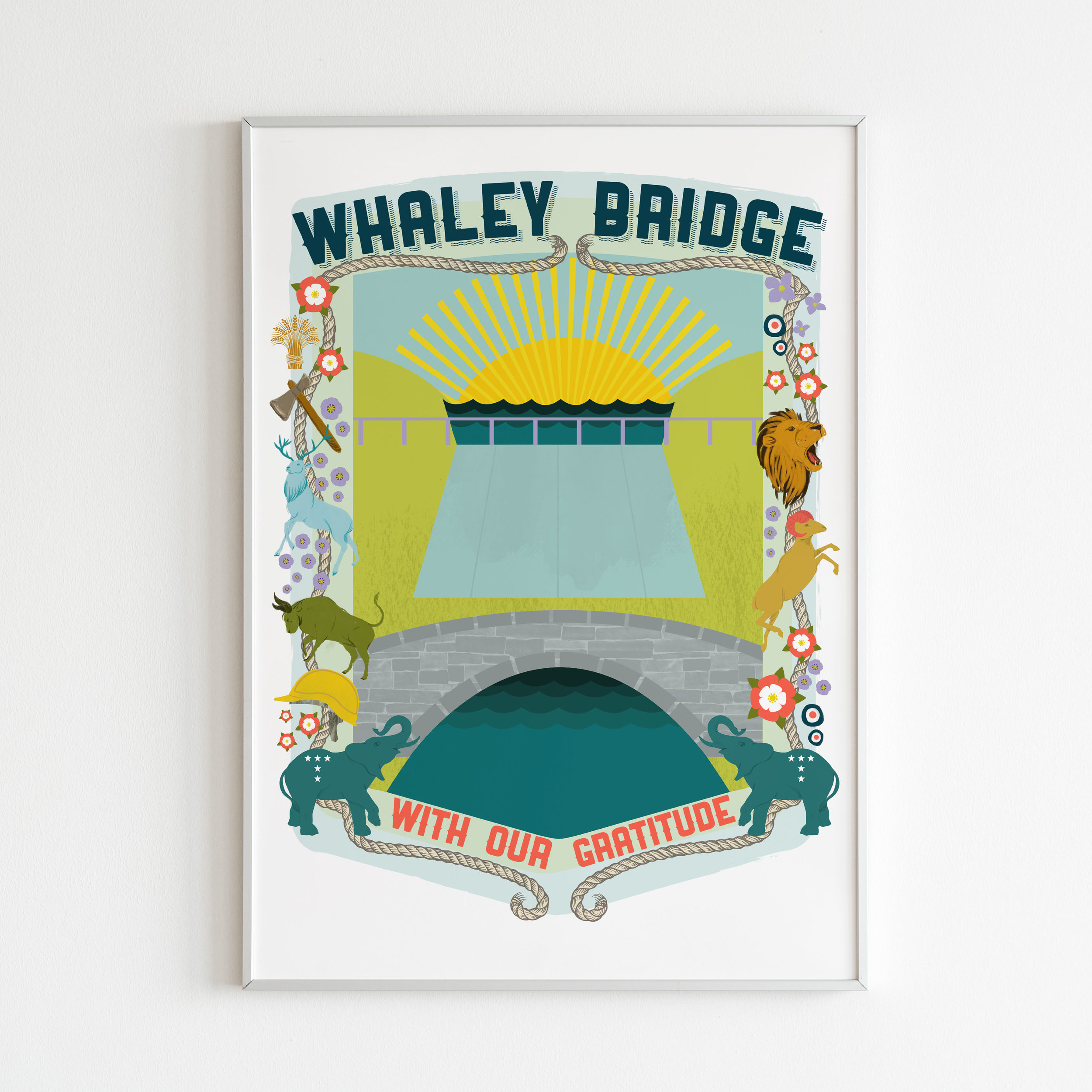 Whaley Bridge - With our gratitude - Print