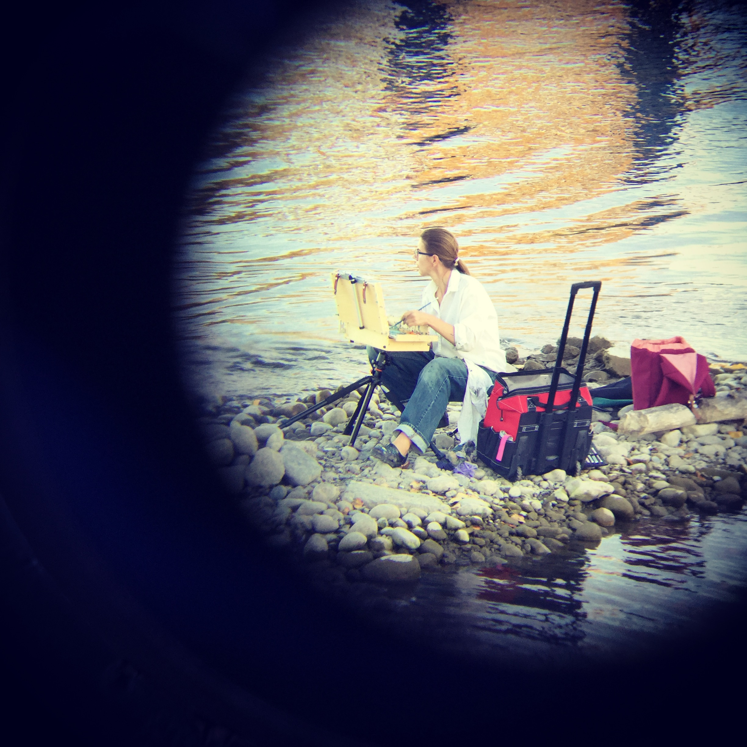 Photo credit: Eric Moschopedis (cleverly shot through his binoculars unbeknownst to me).