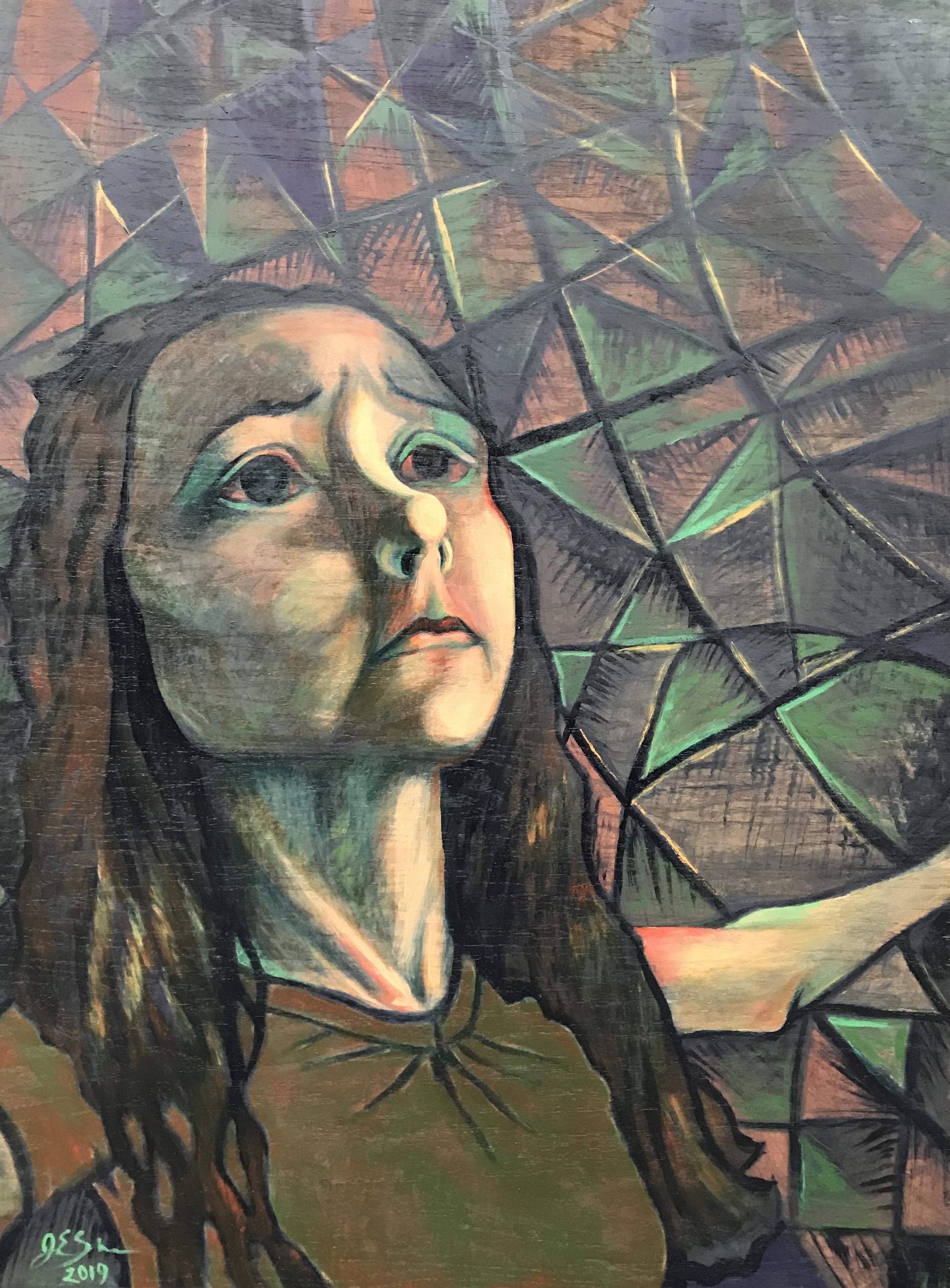 """Abide  , Oil on Panel (48"""" x 36"""")"""