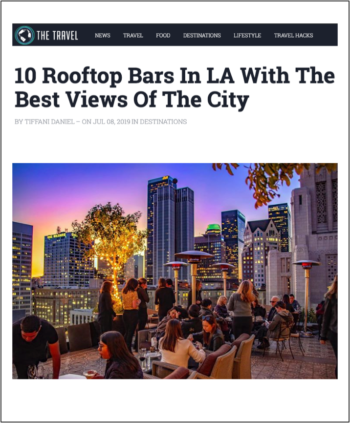 Rooftop Bars in LA with the Best Views of the City Perch LA