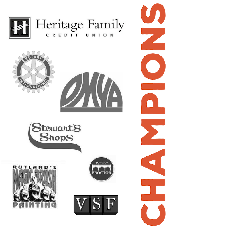 Our Champion Sponsors - support mentoring through our events and annual donations. These amazing partners are instrumental in championing mentoring across Rutland County.
