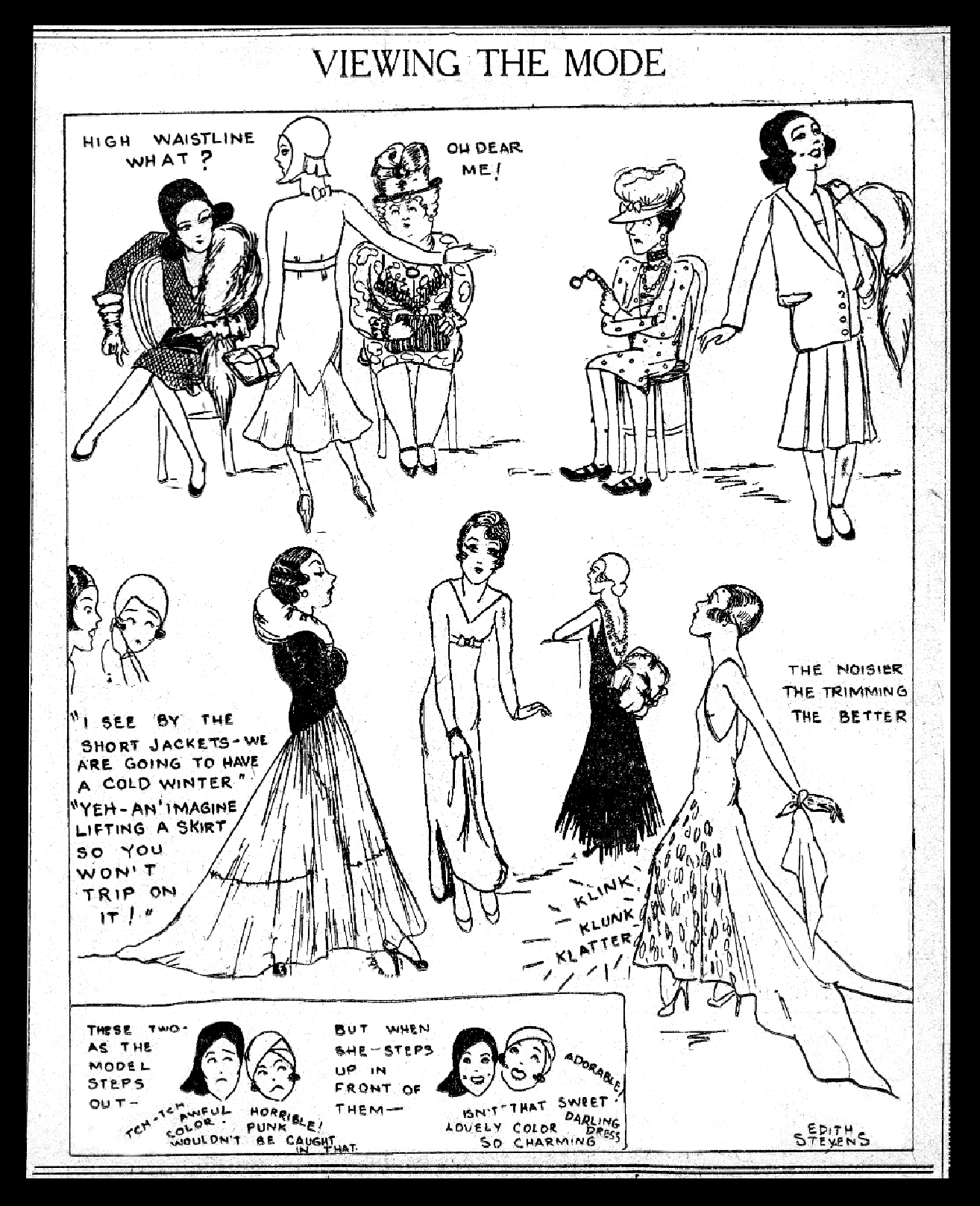 Us Girls by Edith Stevens. October 23, 1929