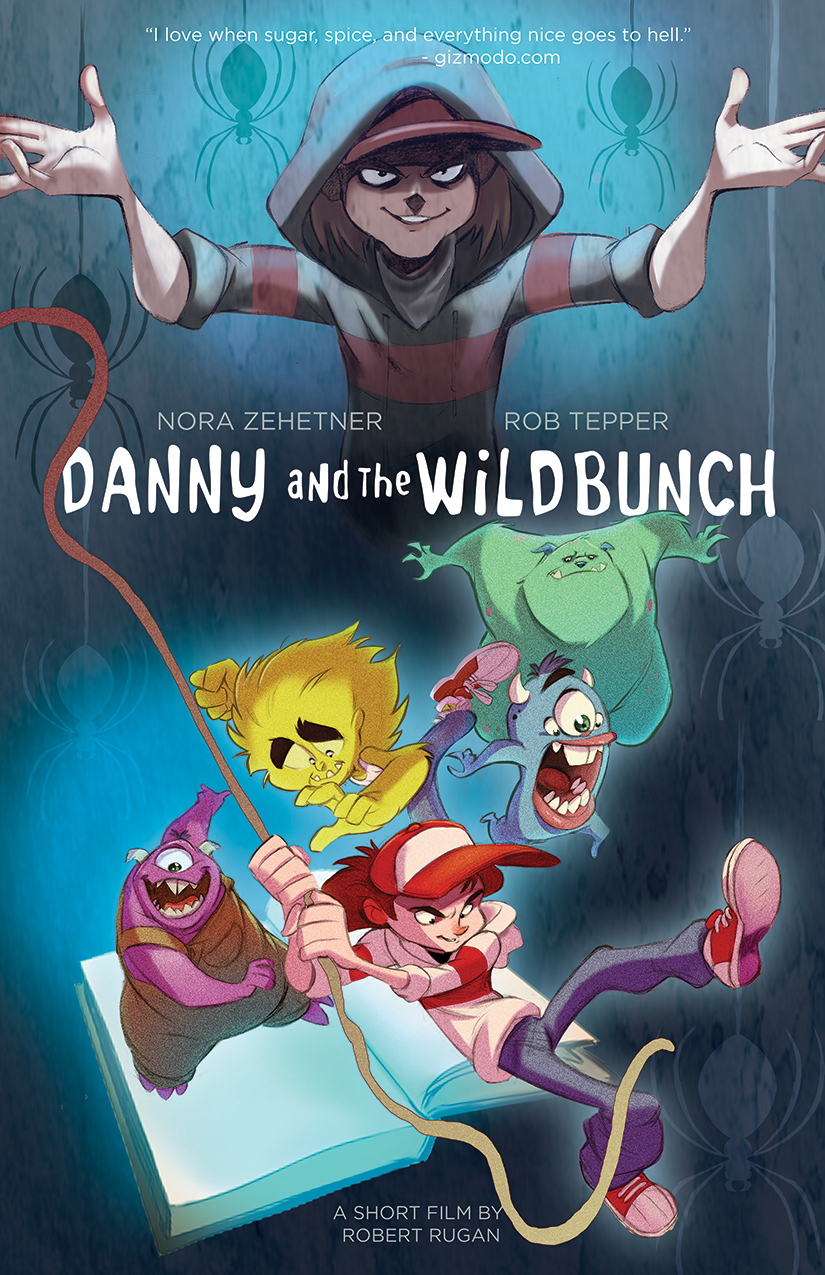 Poster for the short film, DANNY AND THE WILD BUNCH. Illustration by Tad Lambert.