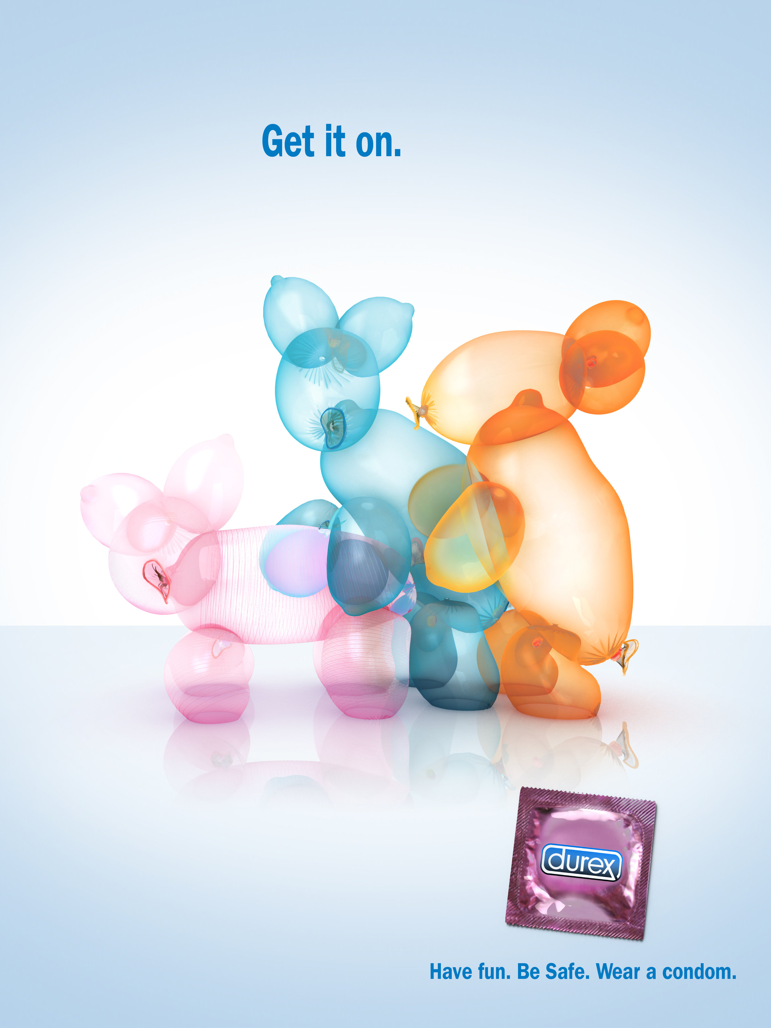 Poster for Durex condoms.