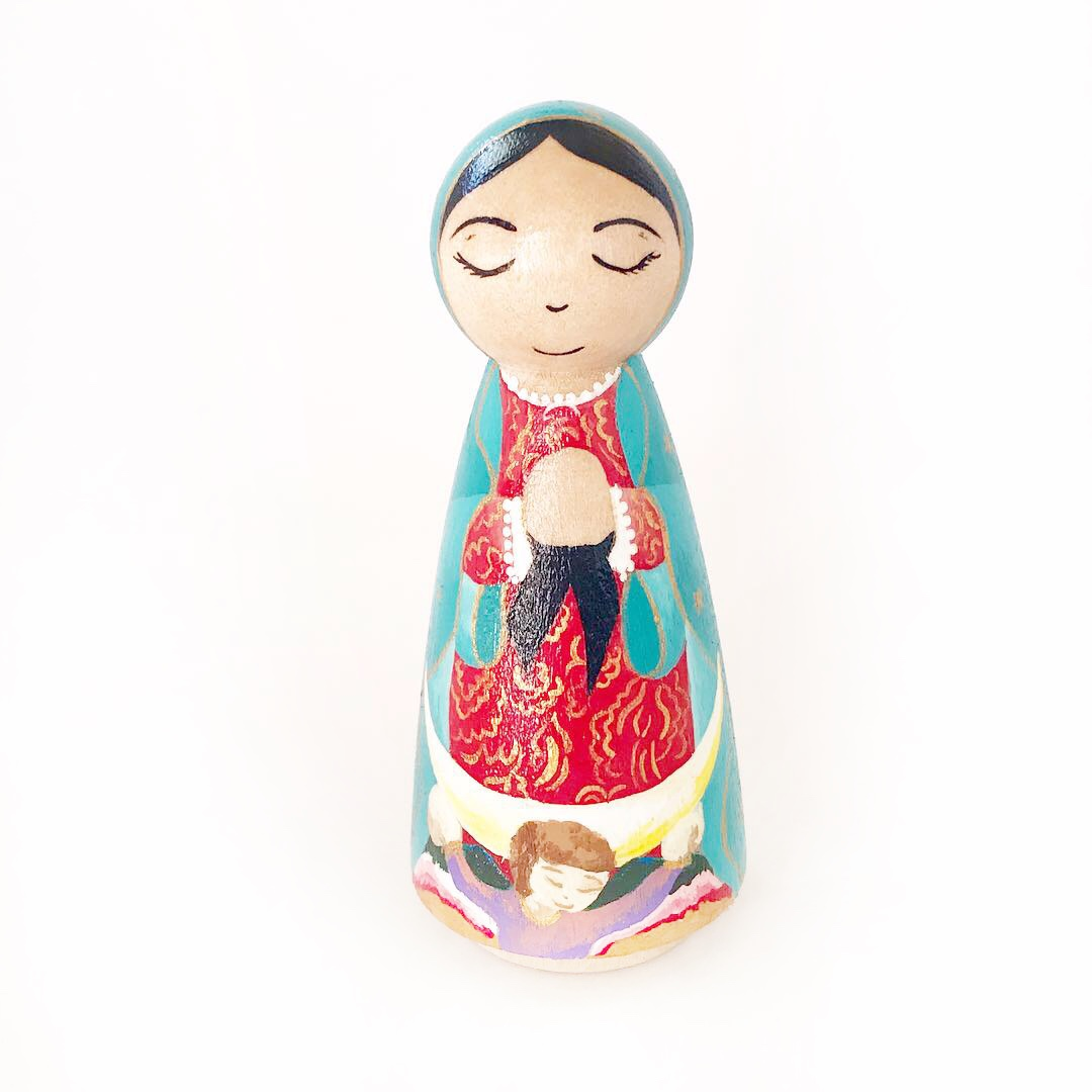 All dolls are hand-painted and sealed to order! - OLG, Feast day: Dec 12