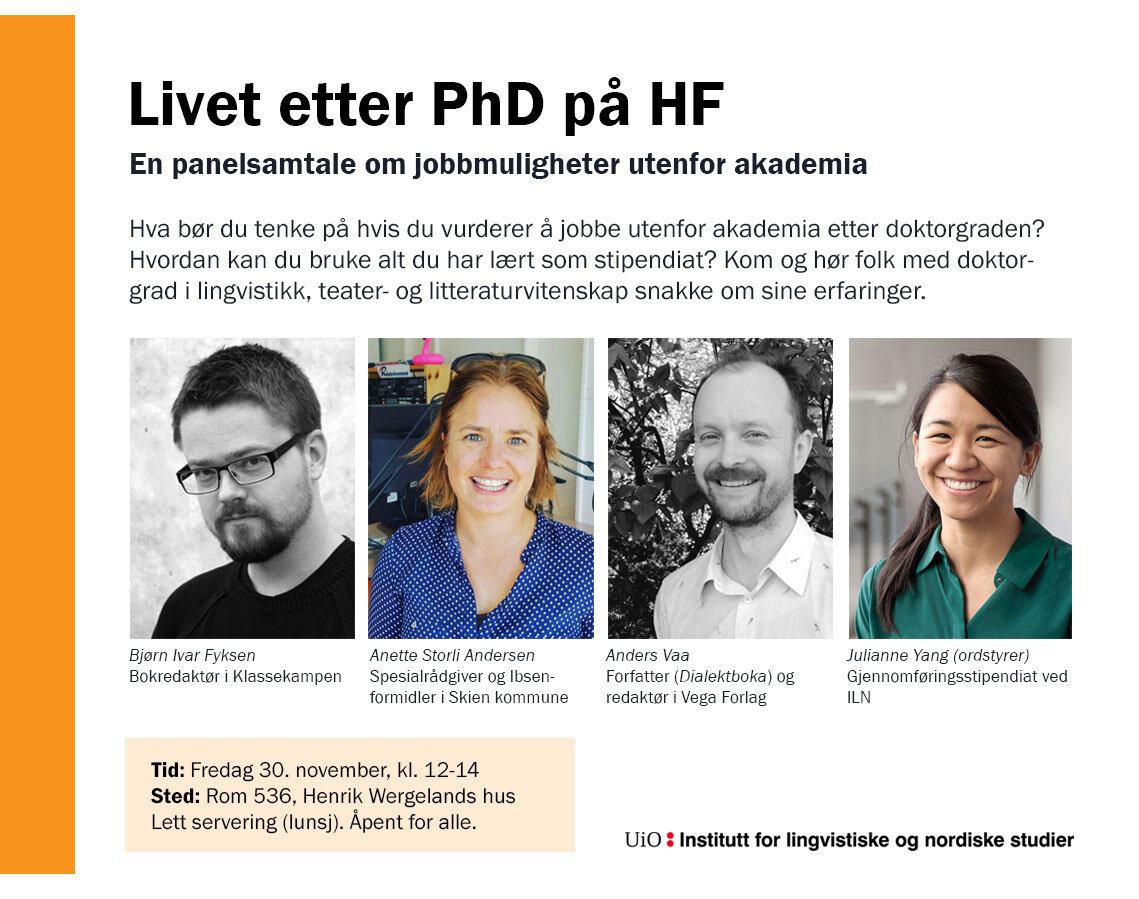 Event info for  Life after a PhD in the humanities: Jobs beyond the academy.