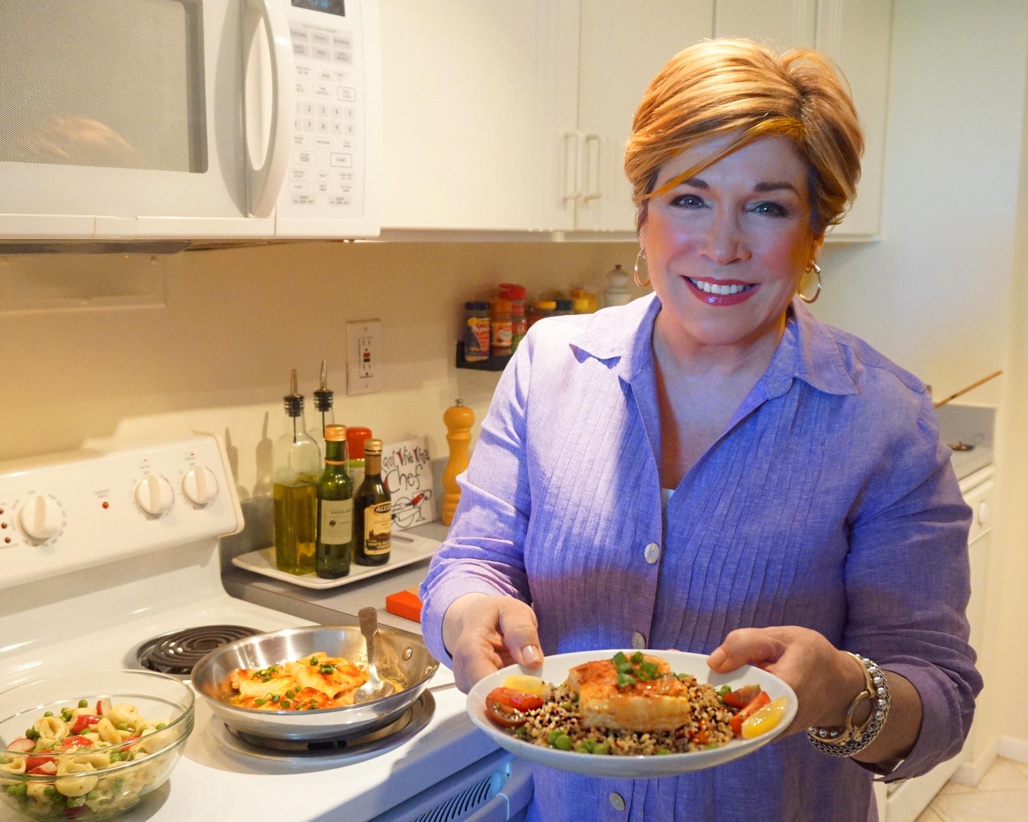 Denisse Oller Healthy Chef Food Demonstration NYC NJ CT