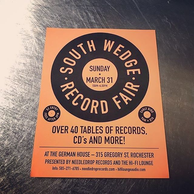Come see us on Sunday! We will have a table of vinyl, cassettes, and CDs! #westolethephotofromneedledrop @needledroprecords