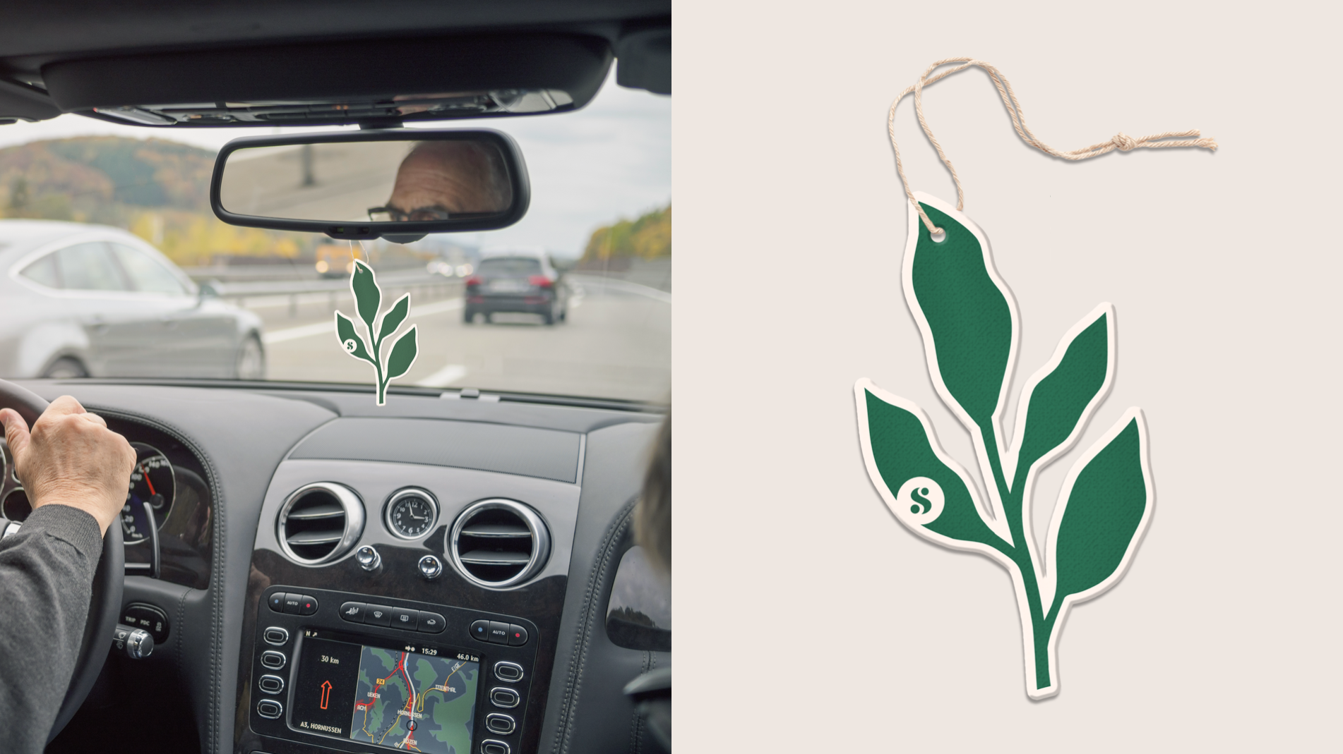 """Love is in the Air"" sage(yes, it's an aphrodisiac)-scented car refreshers"