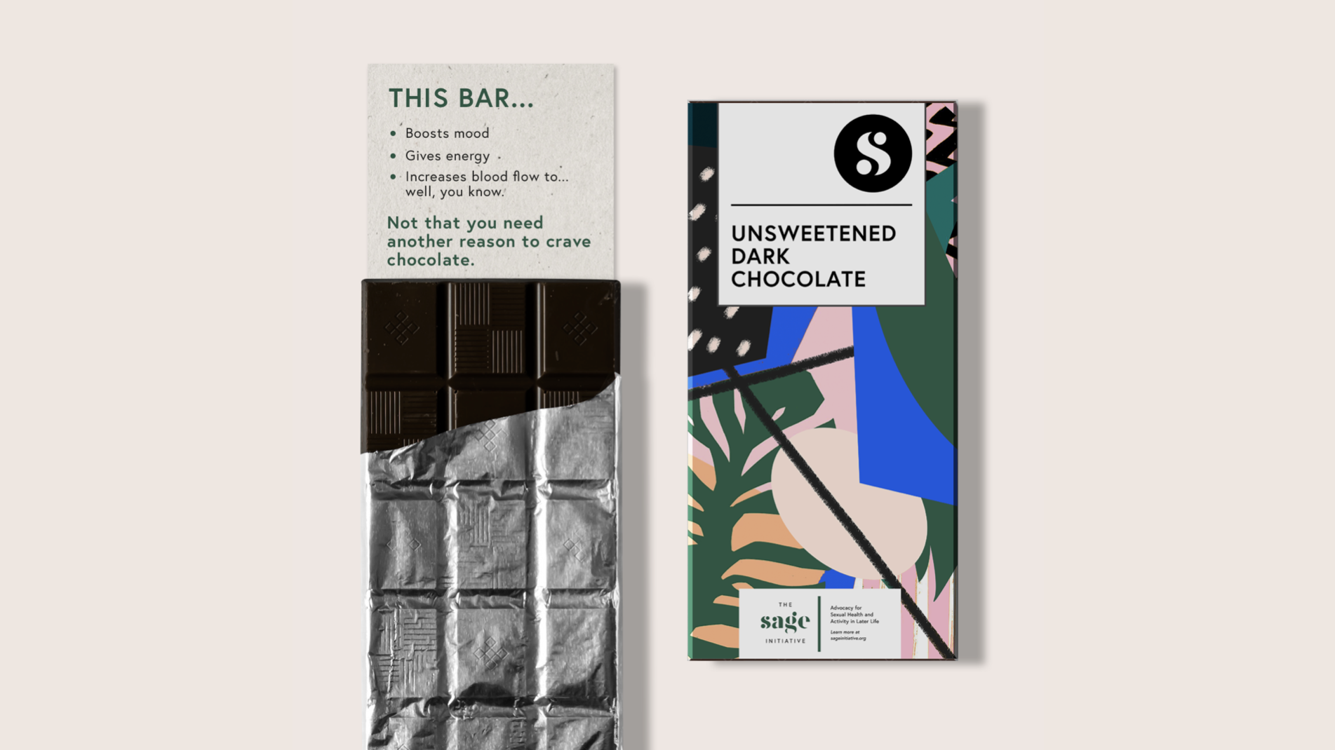 Branded dark chocolate bars(yep, it's also an aphrodisiac)