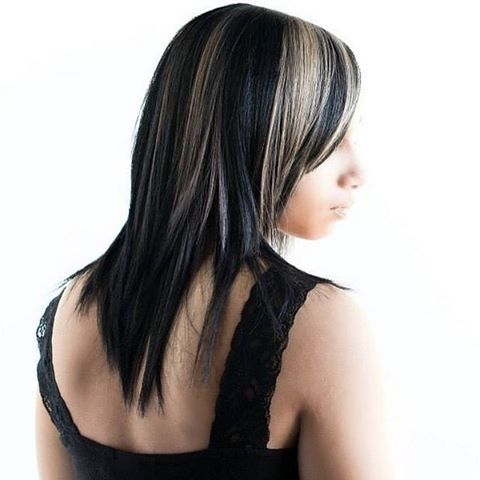 So in love with this cut-n-color by Arno! Ice white highlights against lustrous black all achieved with All-Nutrient's healthy-for-your-hair.jpg