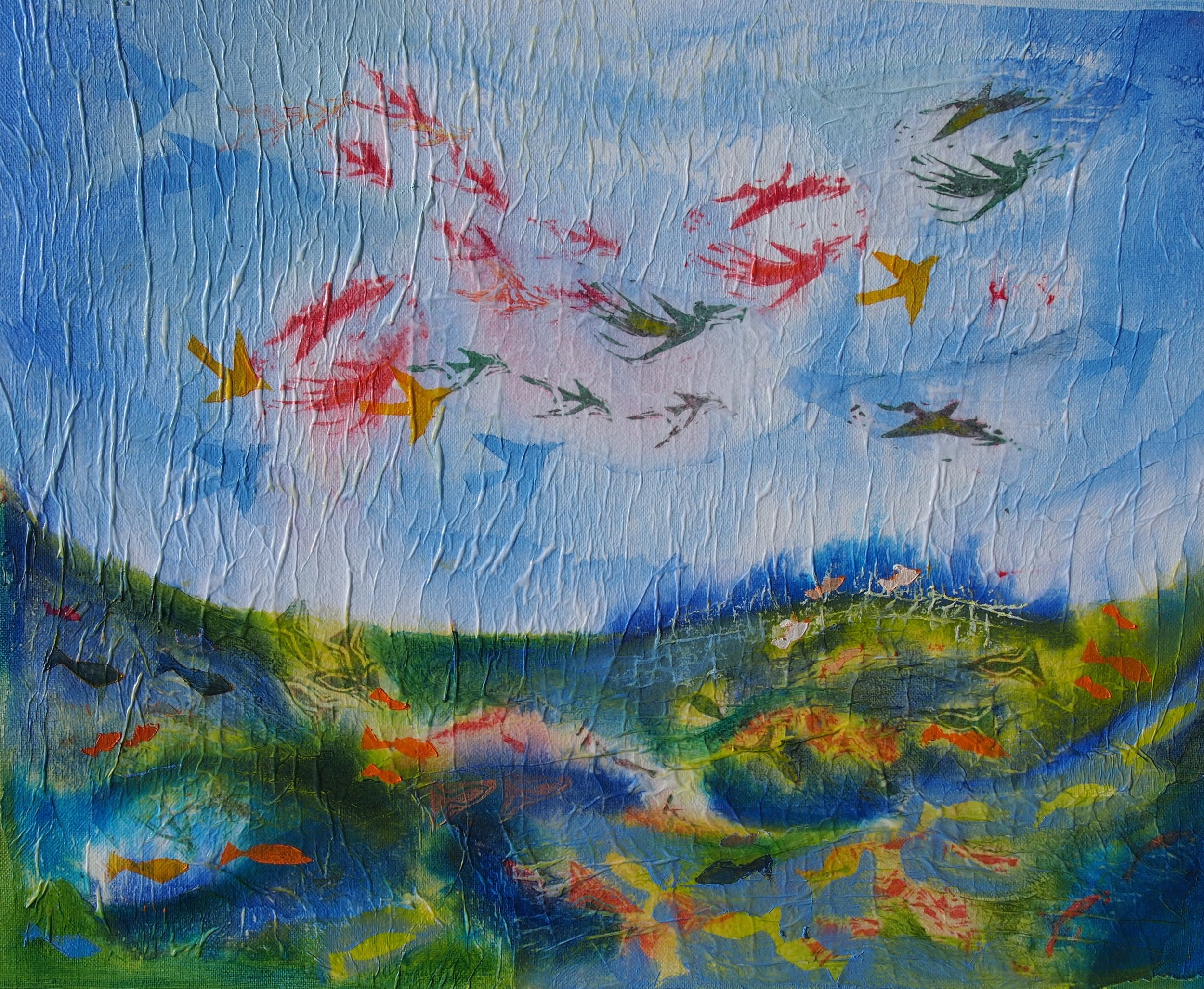 Creation of the Birds and Fish  - Laura Summer