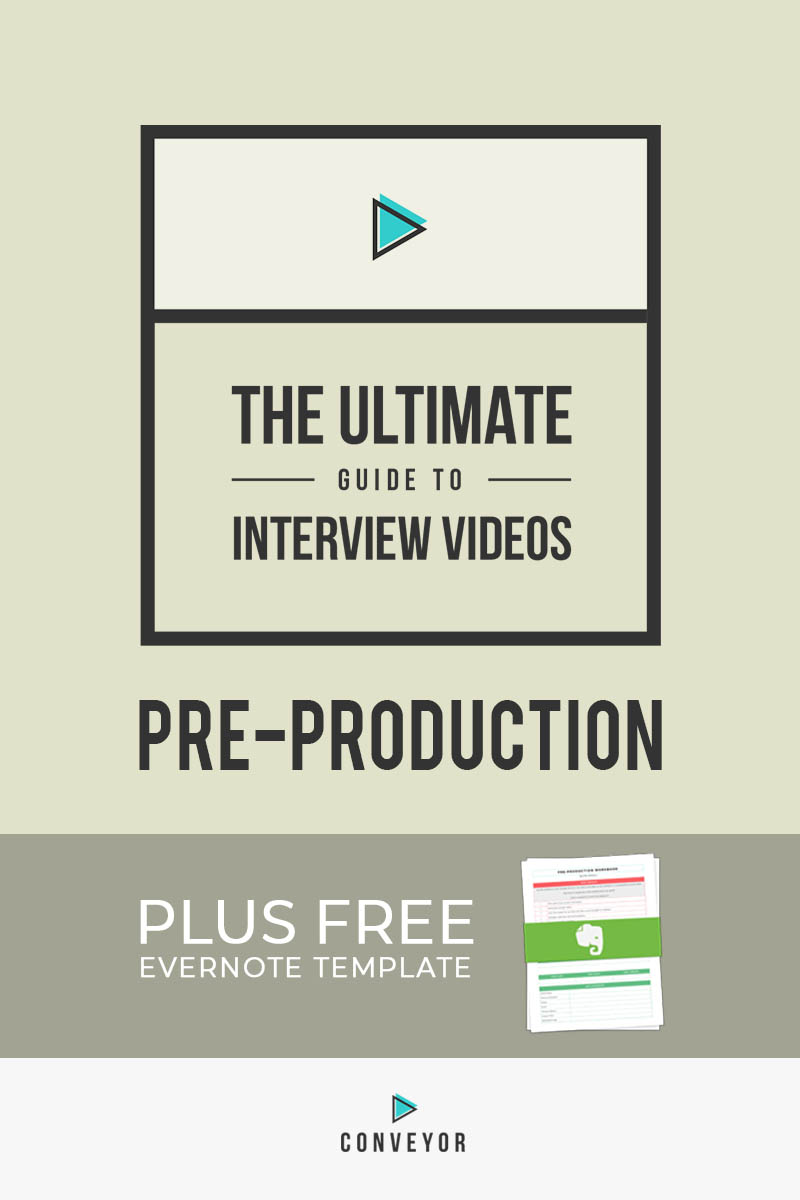 A step-by-step process for planning an interview-based video.