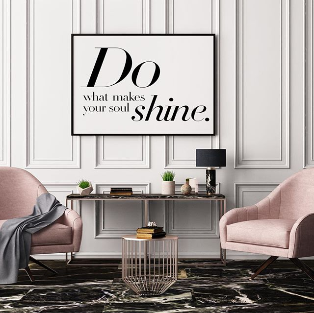 """Do what makes your soul shine"" available in poster, canvas and framed! Create a space that inspires ✨"
