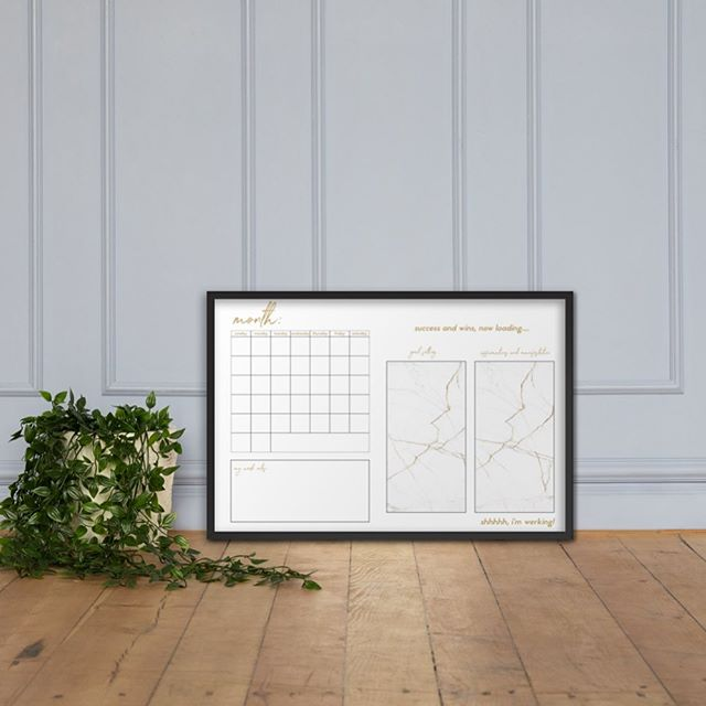 New in!!! Our WERKABLE Calendar. Just grab a dry erase marker and get to WERK! The calendar includes month at-a-glance, goal setting, a space for affirmations and notes. Shop our marble, leopard and traditional werk looks. Link in the bio and 15% off your order with a mailing list sign up. Let's get to WERK!