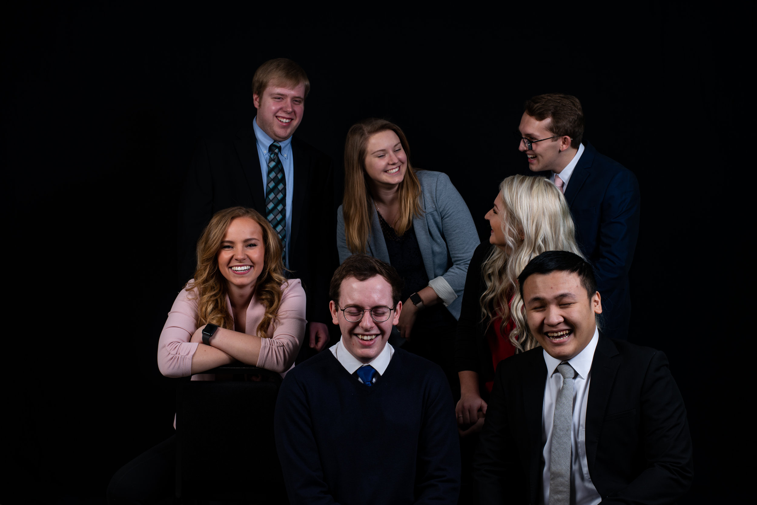 Back row (left to right): Jon Mohwinkle, Katie Kreis, Ian Coon Front row (left to right): Madison Bloker, Robby Newell, Kailee O'Brien, Tom Le