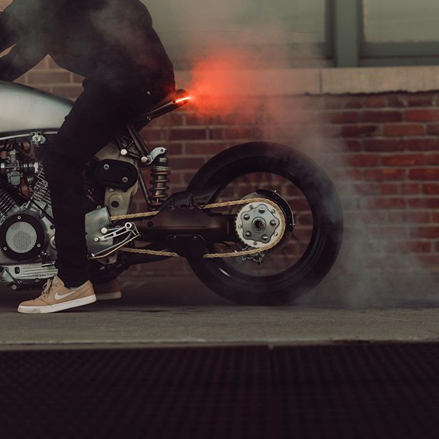 Always burnin' rubber 💨💨💨 Throwback to our 920R Virago. Got some cool bikes in the queue 🔥 #485designs