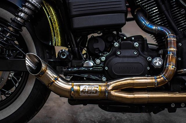 Harley exhaust & intake we made recently! Something a little different. 🔥🔥🔥 #485designs