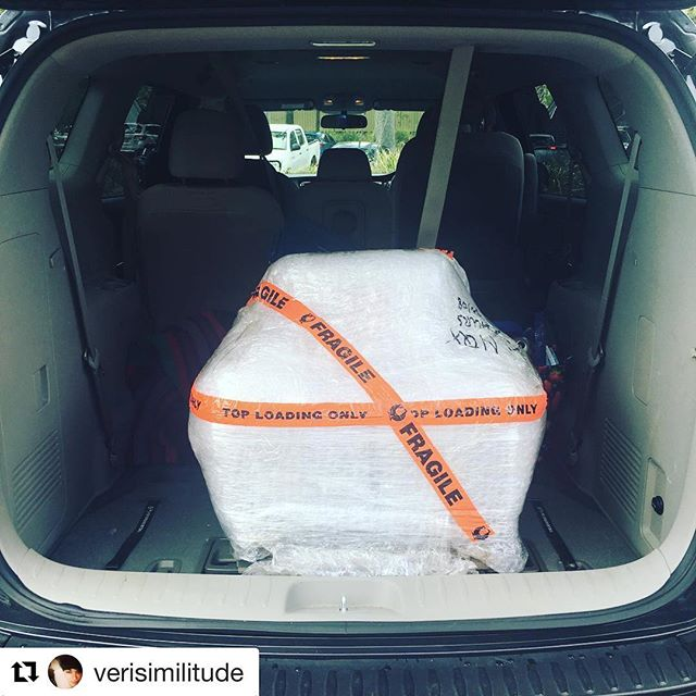 The highs and lows of a project all in the back of a car! 🚗🚗🚗🚗🚗#Repost @verisimilitude ・・・ Sometimes the most magical moments don't look all that magical at all (but they definitely still are) #itshere #bbq #moveablefeasthoneysuckle #uon #uonarchitecture #savedbythemailman #honeysuckleplacemaking