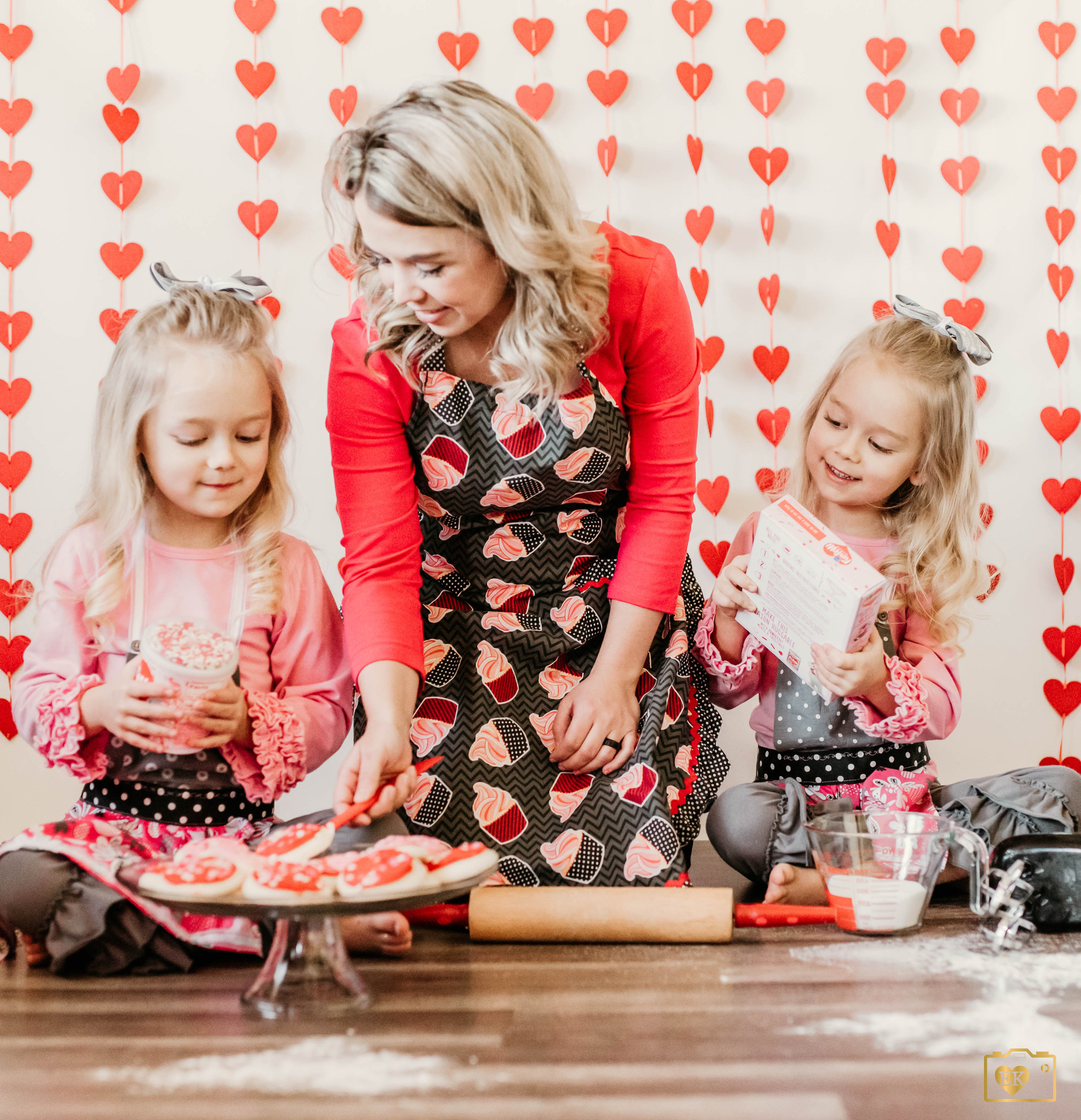 """Aside from their individual personalities, they love quality time with their mom. One of their favorite past times is baking! Kelsy is an amazing baker and owns her own small business """"Kelsy's Cakery."""" She has made quite a few things for our family events and she's an artist."""