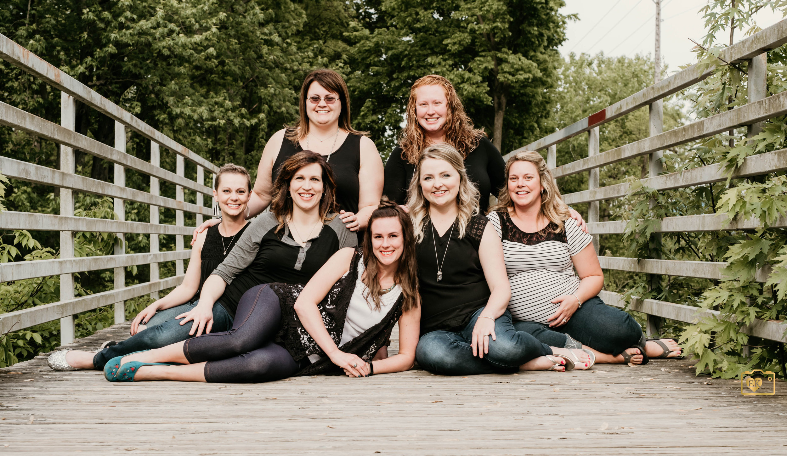 Pictured back row on the left is Ashley.