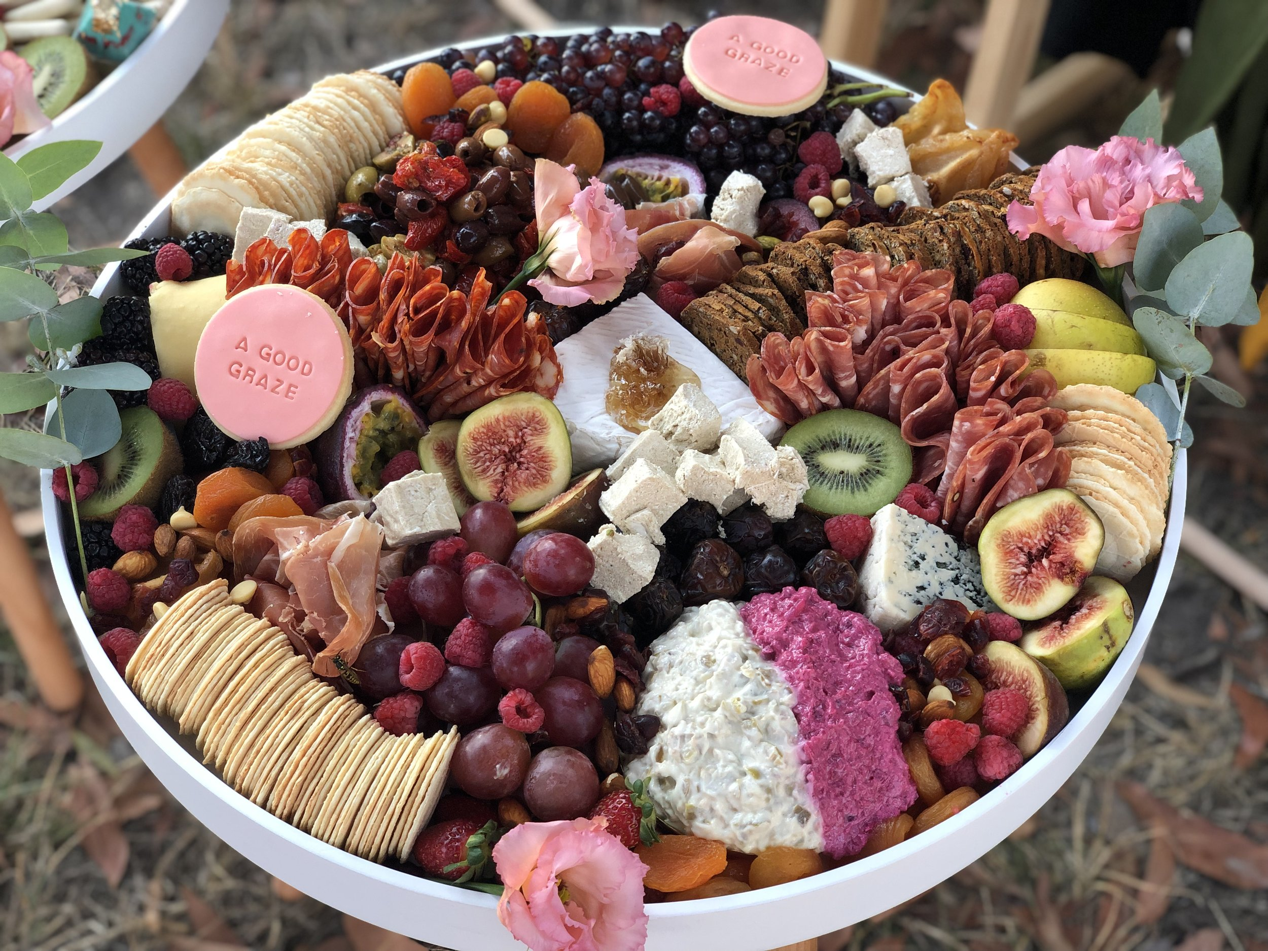 + CASUAL GRAZE + - A mixture of medium and small cheese, dips, preserved meats, antipasto & the graze*Delivered on a 55cm diameter boardFeeds approximately 12-15 people$ 225.00