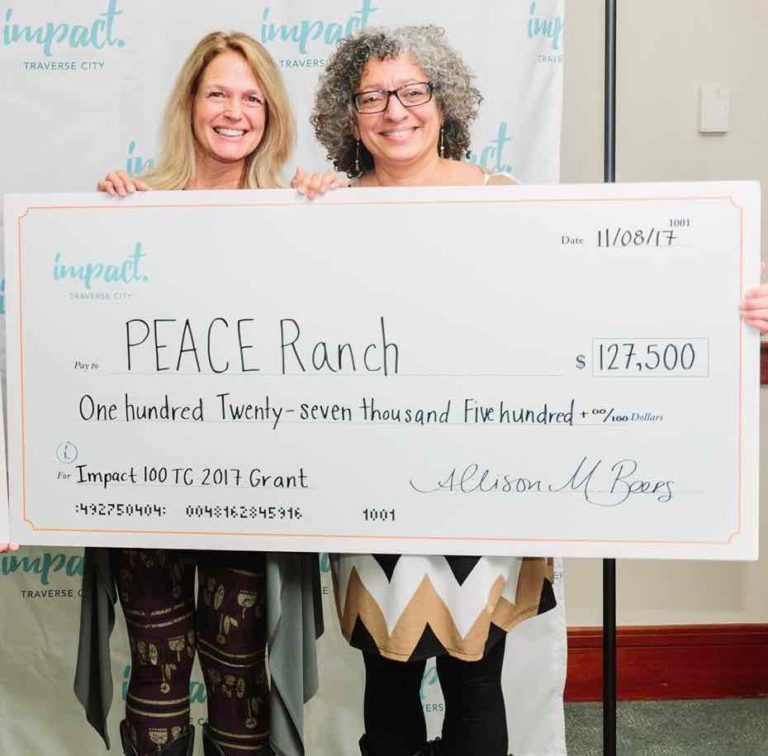 Impact 100 TC winner, Peace Ranch for its project: The Experiential Therapy Center