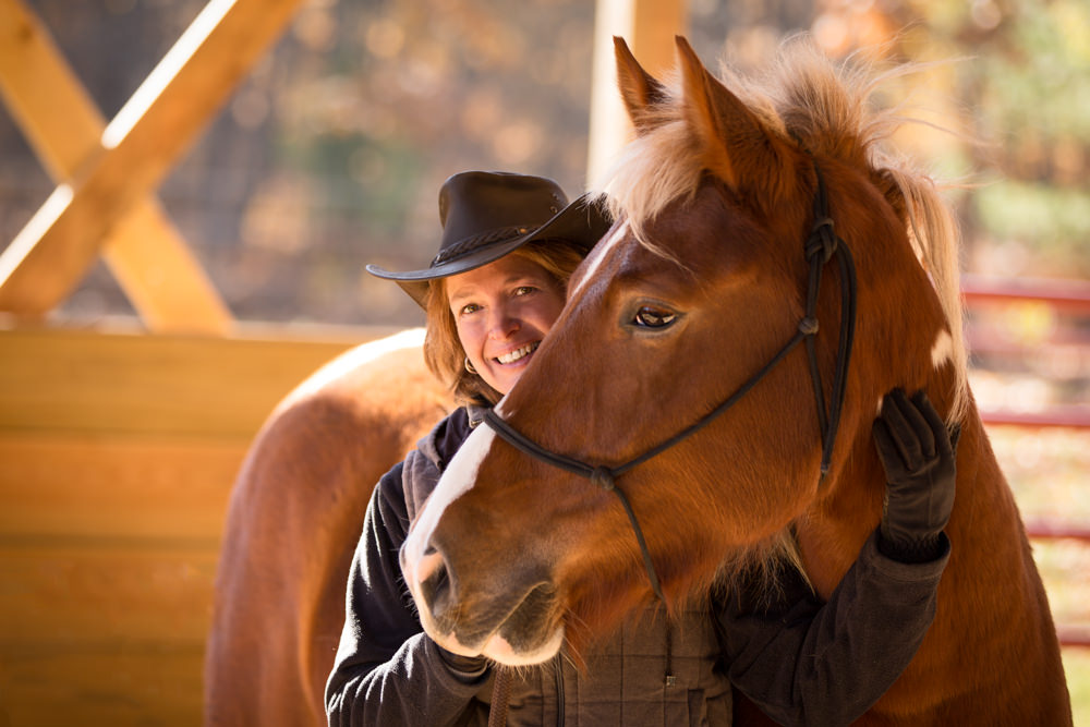 Jackie Kaschel of Peace Ranch, a Professional Equine Assisted Counseling and Education provider