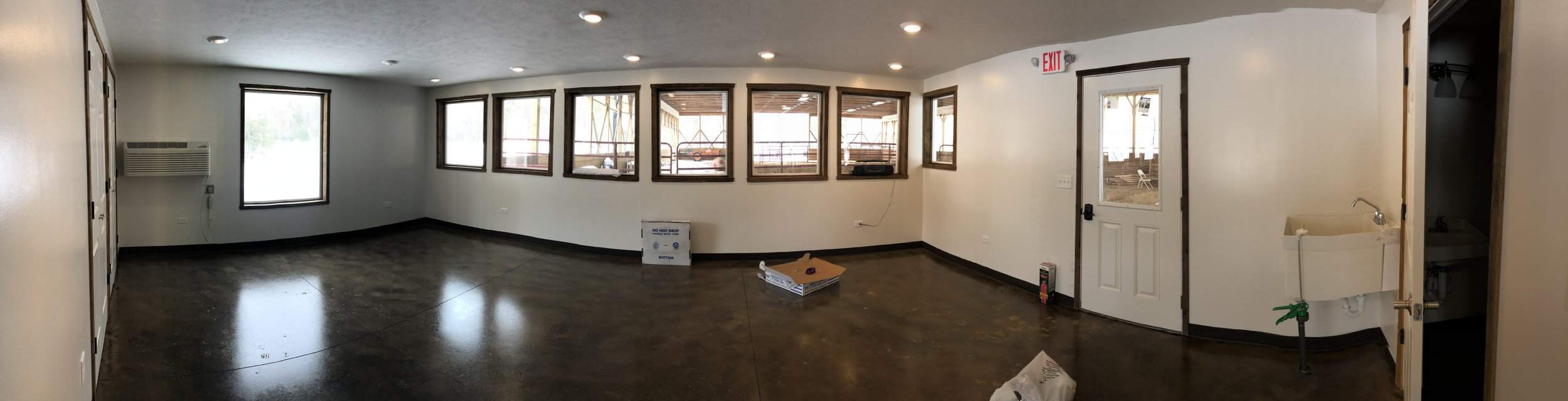 New therapy room open to the arena for the integration of art & music with Equine-assisted therapy.