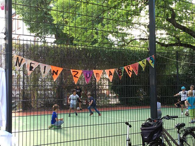 Kinder-Wimpel-Kette an Glauburgplatzfest 2019