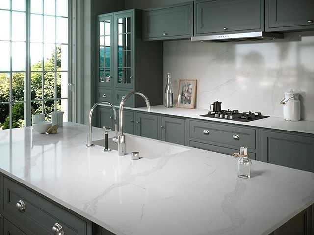 If we had to be stranded on an island, we'd choose this one from Silestone Classic Calacatta.