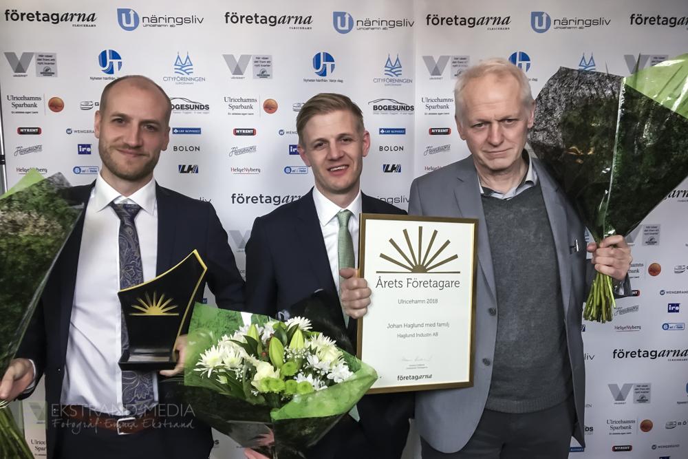 Årets Företagare 2018 - Familjen Johan HaglundHaglund Industri