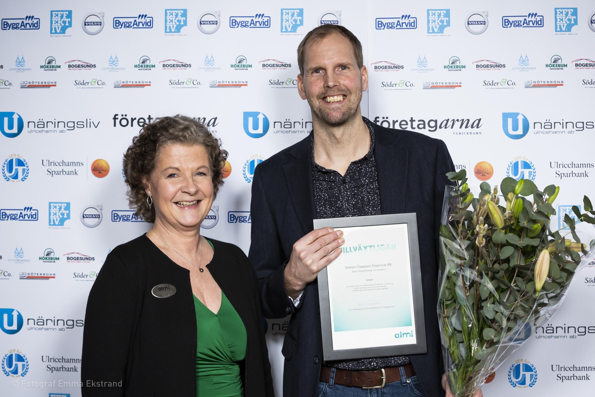 Årets Tillväxtföretag - Stefan Claesson Elservice AB