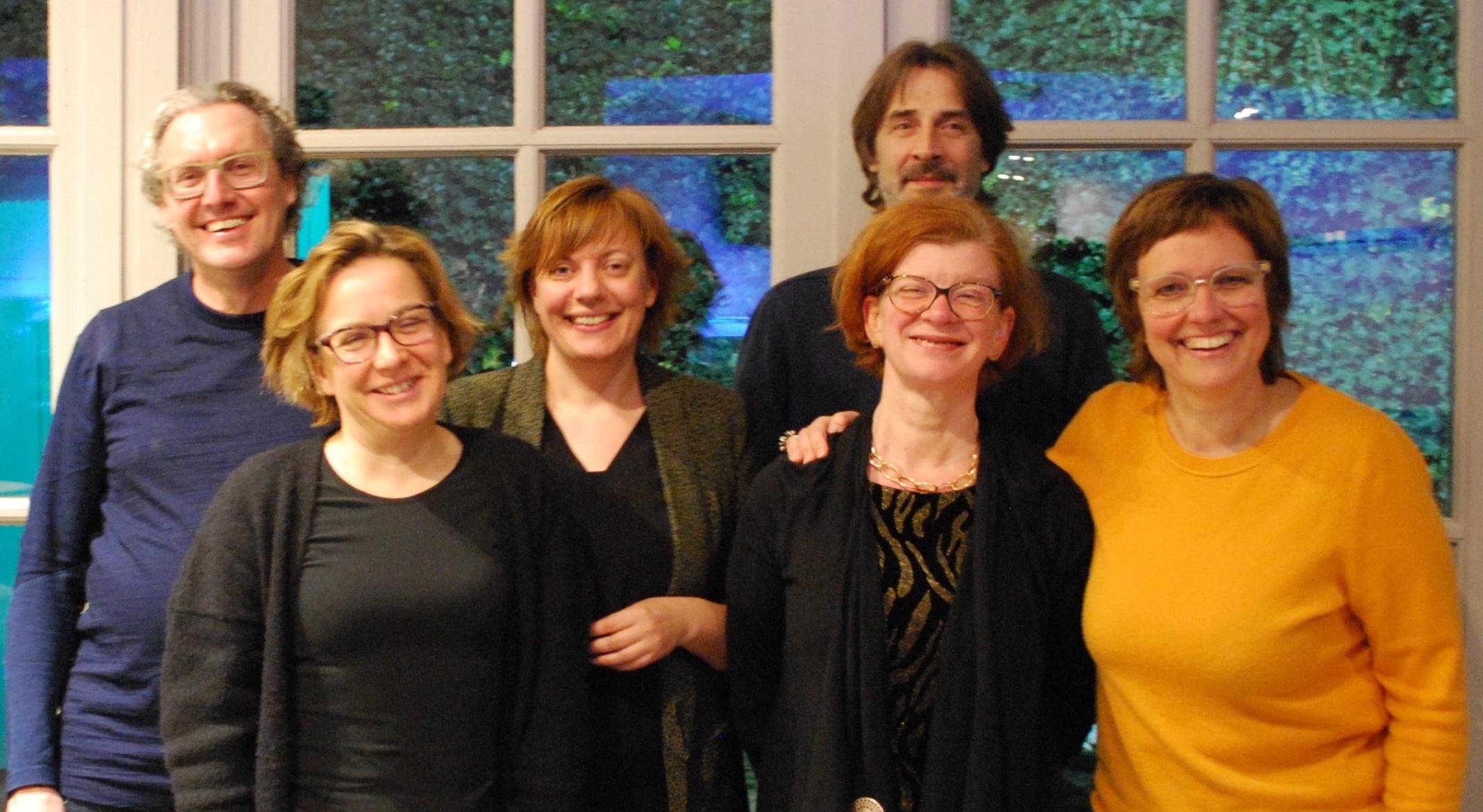 van links naar rechts: Mark De Munck, Saskia Lieveyns, Saskia Van Aerschot, Veronique Pertry, Luk Vangansbeke, Elke Jorens