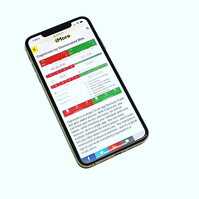 "It's awesome to be included in @imoregram's article on ""Best to do and task manager apps for iPhone."" Thanks, @lorygil and @christyxcore! — #Bujo #CapsicumApp #DigitalPlanner #HabitTracker #iMore #Planner #PlannerAddict #TaskManger #ToDoList"