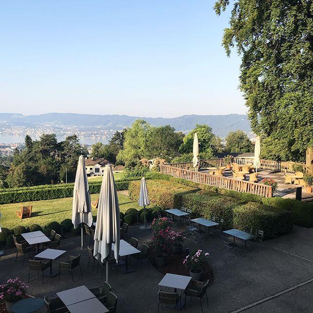 ☀️ today is another wonderful day, zürich. come over and enjoy the view! . #sorellhotelzürichberg #züri #zürichview #viewgoals #goodmorning #helloworld #welcometoouehotel #terrace #garden #workwithaview #allfortheguests