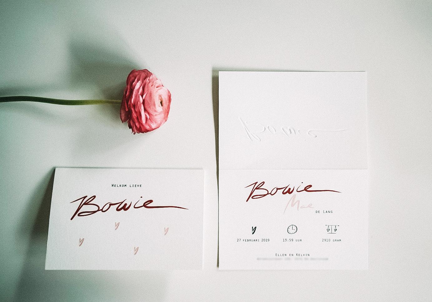 Birth Card 'Bowie Mae'