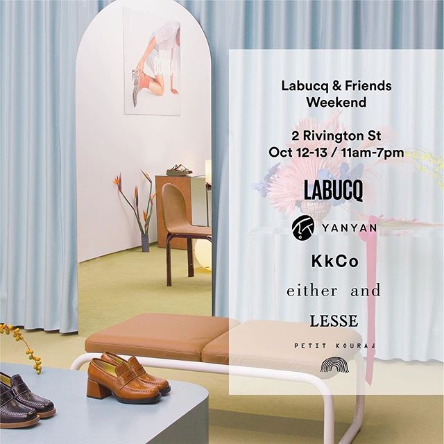 ✨ Excited to be a part of the @labucq POP UP this weekend. ✨ Along with some of my favourite brands | 2 Rivington St, New York☀️ @labucq  @petitkouraj  @yanyanknits,  @kkco,  @lesseofficial,  @__eitherand  It's going to be epic! Come on by, Labucq & Friends and enjoy a glass of champagne 🥂