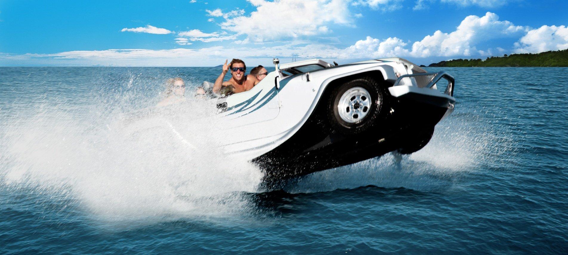 Un coche anfibio