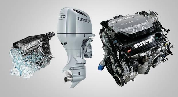 Un motor híbrido - En tierra tracción, en agua chorro.