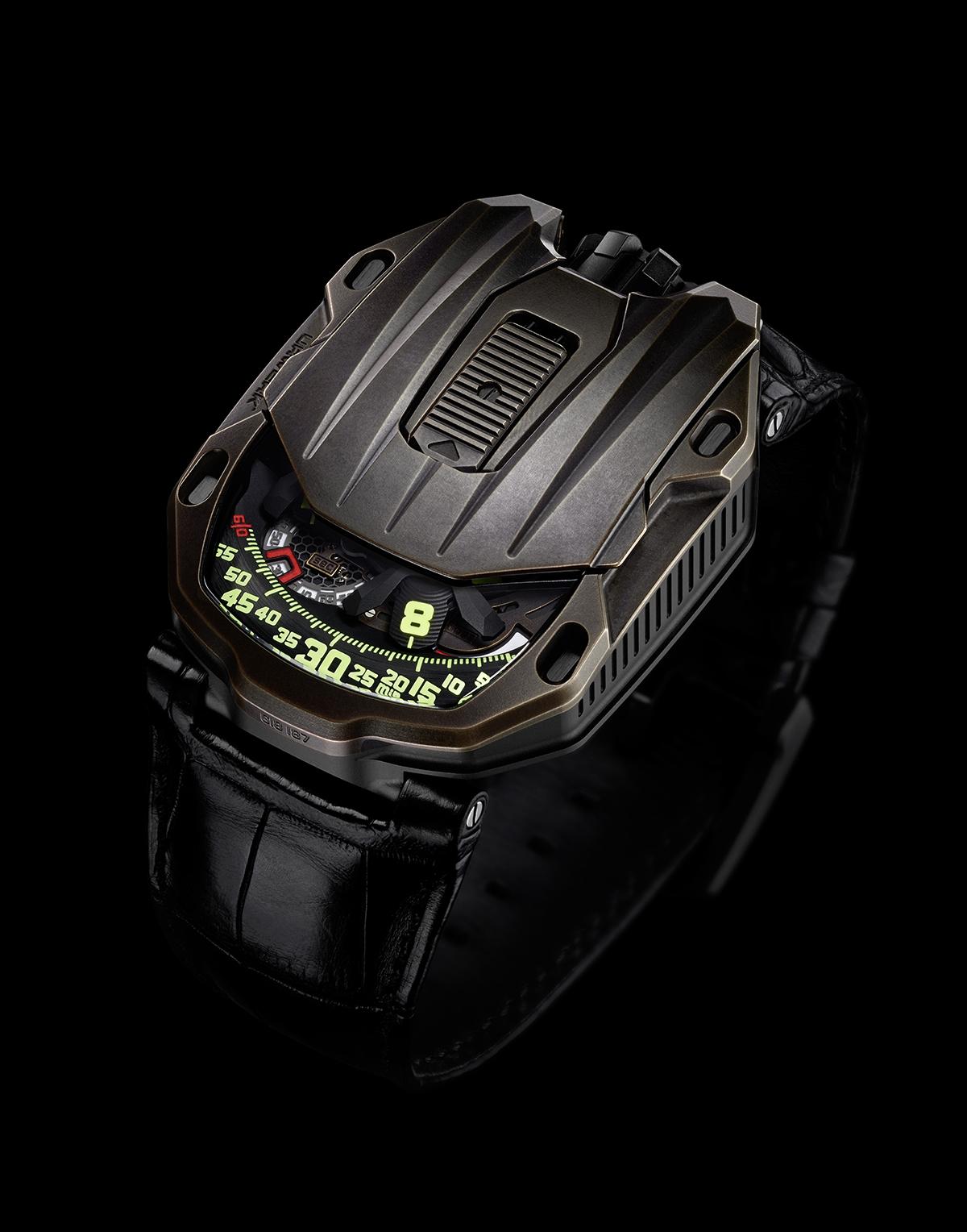 El nuevo Urwerk Ur-105 CT Maverick incorpora una caja realizada en bronce y titanio