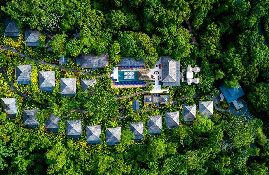 Vista aérea del Hotel Nayara Springs, Costa Rica