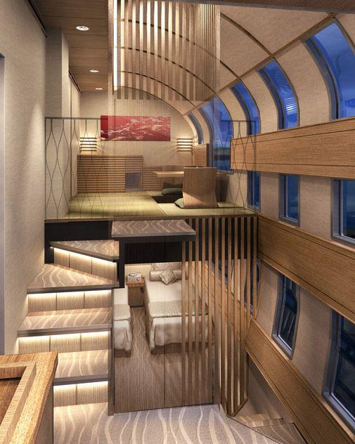 Una suite que ocupa un vagón entero.