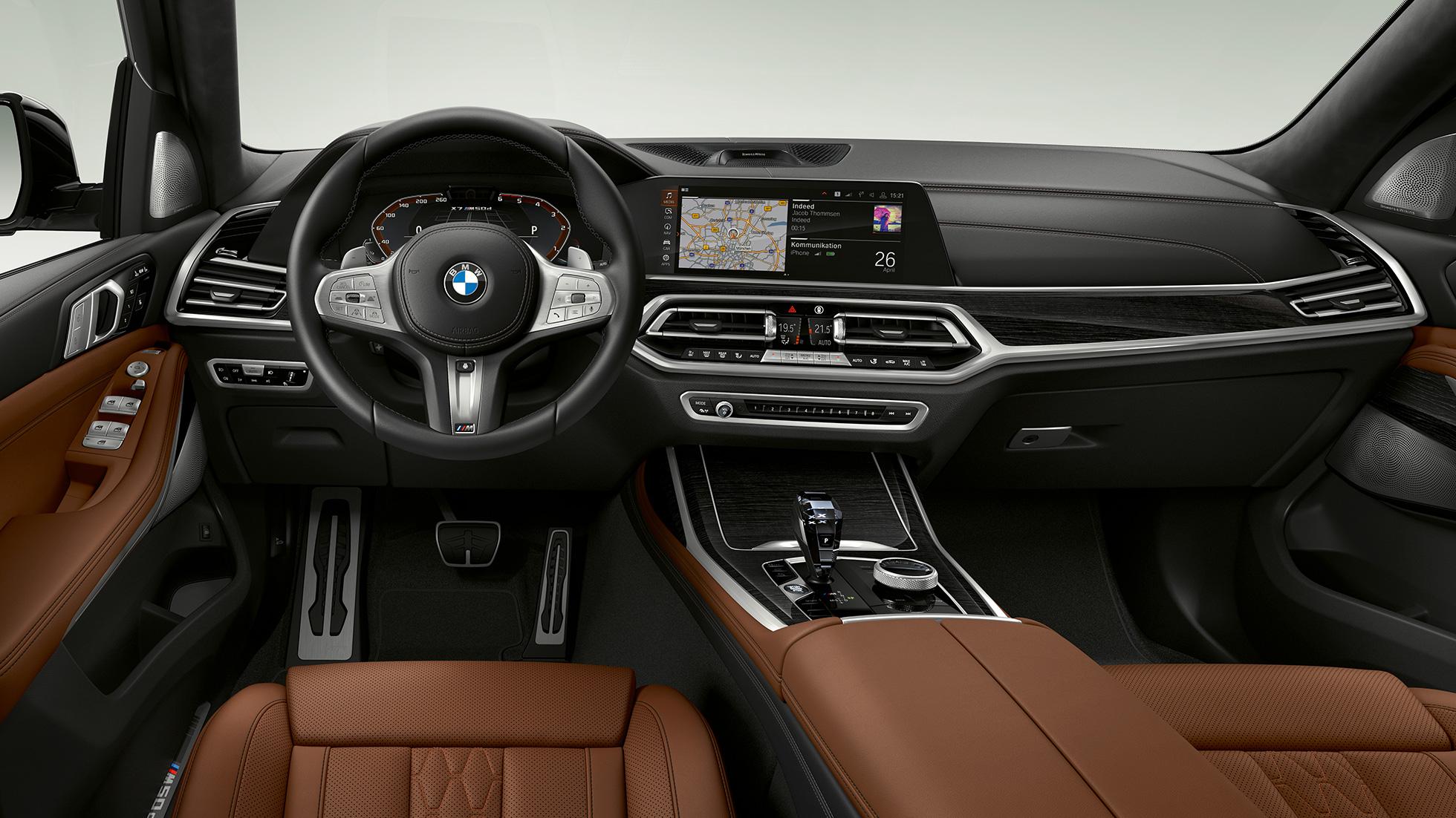 El lujoso interior del BMW X7