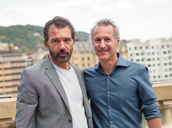 Antonio Banderas y Moisés Chocrón