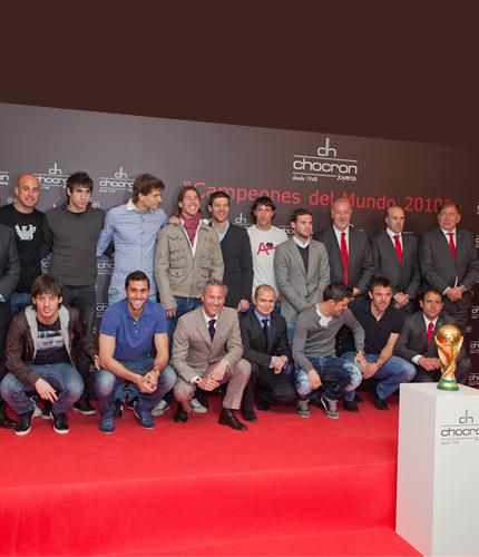 Selección española campeona del mundo 2010.