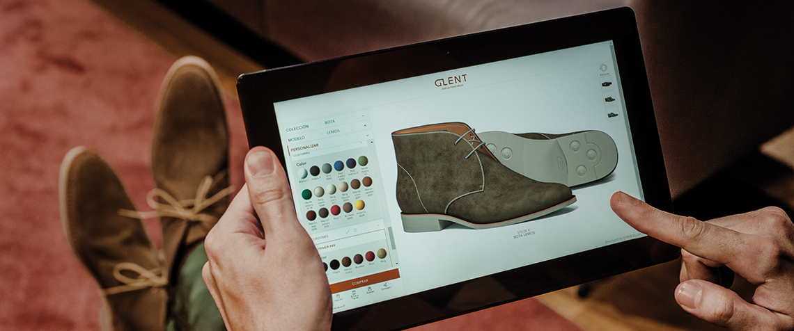Configurador de zapatos Glent